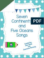 7Continentsand5OceansSongsFreebie