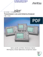 Anritsu Site Master s331a Specifications Spec Sheet 6c34