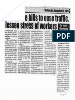 peoples Journal, Nov. 20, 2019, Solons file bills to ease traffic lessen stress of workers.pdf