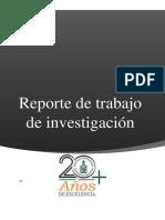 Reporte de Trabajo de Investigación