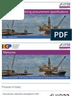 IOGP-JIP33 Standardizing Procurement Specifications