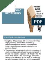 Chap 3.Electronic Recruiting