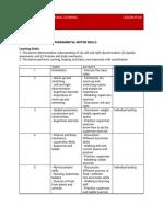 PE Grade 1 Lesson Plan 2019-2020