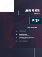 Legal Forms Report Group 5