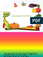 Adolescent Nutrition OutLine