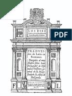 1582 Leon Battista Alberti Los Diez Libros de Arquitectura