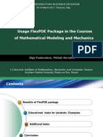 Presentation - Usage FlexPDE Package in the Courses of Mathematical Modeling and Mechanics