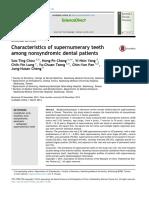 Characteristics of Supernumerary Teeth Among Nonsy