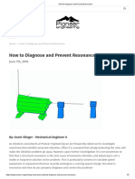 How to Diagnose and Prevent Resonance