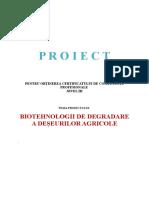 Biotehnologii de Degradare a Deseurilor Agricole