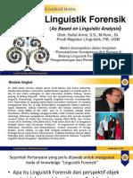 1 Linguistik Forensik Oleh Sailal Arimi