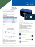 NEC ALM Battery 12V7s Datasheet