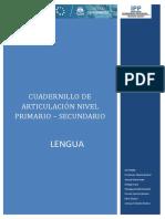 Cuadernillo de Articulación - Lengua (1)