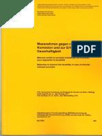 Massnahmen Gegen Chloridinduzierte Korrosion Und Zur Erhöhung Der Dauerhaftigkeit - Schweizerische Eidgenossenschaft