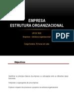 01 - 7825 - Empresa - Estrutura Organizacional - Aula 1