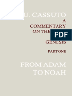 A Commentary on the Book of Genesis, by Umberto Cassuto