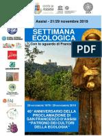 Programma Settimana Ecologica 2019
