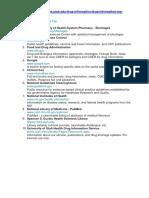 Top ten pharmacology