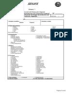 SENAVE Formulario Para Categorización de Riesgo de Productos y o Subproductos Vegetales