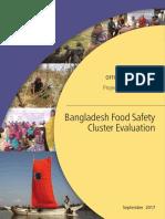 Bangladesh Food Safety Cluster Evaluation
