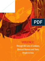 Violence Through Lens of Lesbians Bisexual Women and Transgender People in Asia 2014
