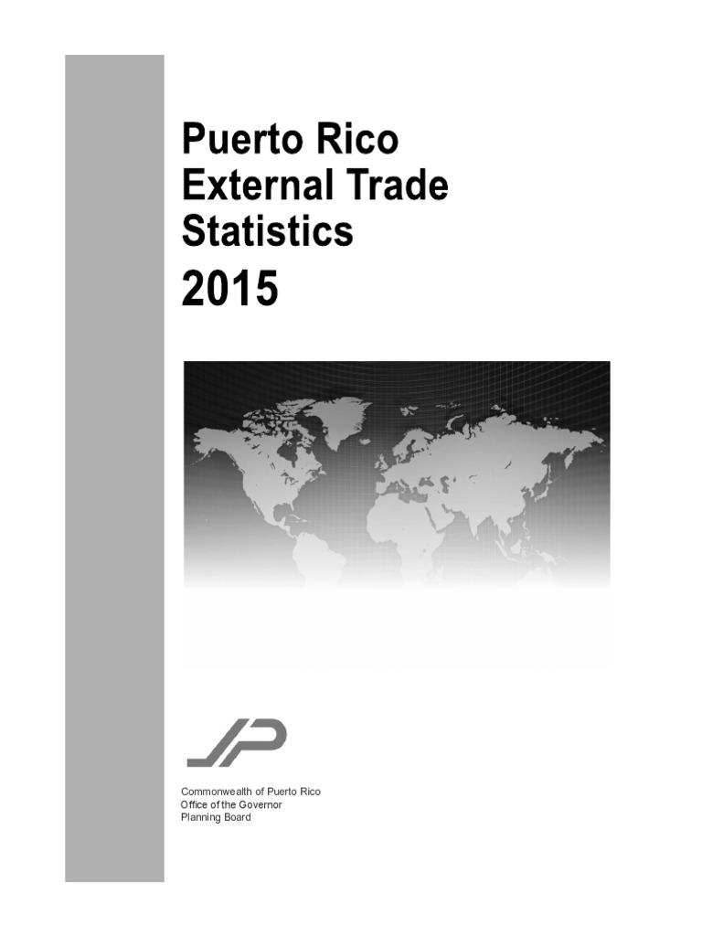 External Trade Statistics 2015 Imports Customs