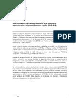Nota informativa sobre ayudas financieras en el proceso de reestructuración del sistema financiero español