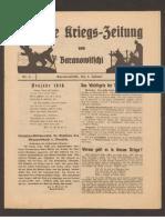 Deutsche Kriegszeitung Von Baranowitschi 1916-1918