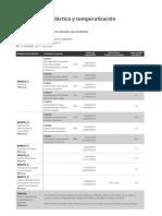 Calendario-Planificación didáctica