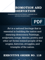 Arts Promotion and Preservation