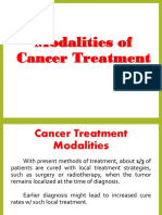 Modalities of Cancer Treatment