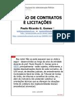 Gestão de Contratos e Licitações