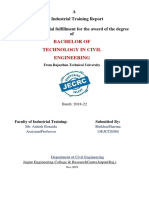 Industrial Training Report Format - 3rd A