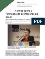 Reflexões sobre a formação de professores no Brasil