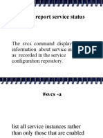 SOLARIS svcs command ppt