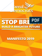 Lib Dem Manifesto 2019