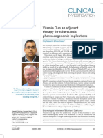 Vitamin d as an Adjuvant Therapy for Tuberculosis Pharmacogenomic Implications