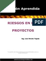 Libro Riesgos en Los Proyectos