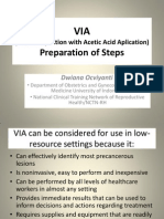 VIA (Visual Inspection with Acetic Acid Aplication) Preparation of Steps