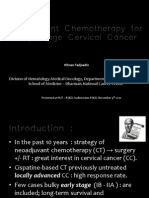 Neoadjuvant Chemotherapy for Early Stage Cervical Cancer