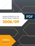 Annual Statistics of the Traffic Penalty Tribunal 08-09