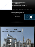 Sulfuric acid and oleum