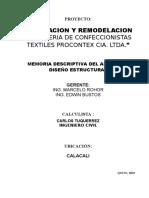 MEMORIA Procontex