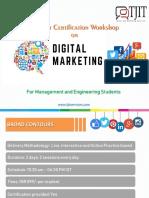 Digital Marketing Workshop- Course Details