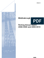 Middlesbrough Parking Annual Report 2008 to 2009 &; 2009 to 2010