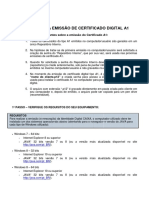 Roteiro Emissao Certificado Digital A1