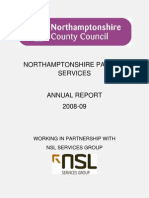 Northamptonshire Parking Services Annual Report 2008 - 2009