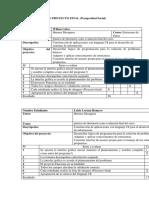 Lista de Chequeo Proyecto Final