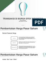 Pertemuan 4 - Transaksi Di Bursa Efek Indonesia