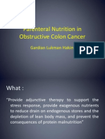 Parenteral Nutrition in Obstructive Colon Cancer